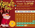 Thông báo lịch nghỉ Tết Âm Lịch - Xuân Canh Tý 2020